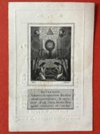 Image Pieuse Anno 1845 - GRAVURE Doodsprentje Décés - HUYS VANDENWEGHE Ledeghem - 9.5 Cm X 6.5 Cm - Images Religieuses