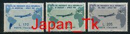 ITALIEN Mi. Nr. 1100-1102 Flug Des Staatspräsidenten Giovanni Gronchi Nach Südamerika - Siehe Scan - MNH - 1961-70: Mint/hinged