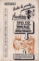 Buvard Ancien/ Fermeture De Sécurité/ F.O./Mono-Bloc  / Infracturable/ Rue Du Mont-Thabor/ PARIS/Vers 1950-60    BUV475 - F