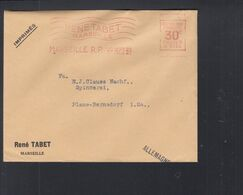 Frankreich France Brief 1929 Freistempel Rene Tabet Marseille - 1921-1960: Periodo Moderno