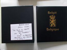 "BELGIQUE -  DAVO Luxe "" Le Tour Du 20 Em Siecle En 80 Timbres + This Is Belguim  RELIURE  Ouatinnée + BOITIER + Feuilles - Bindwerk Met Pagina's"