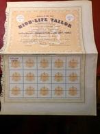 Sté  Du  HIGH - LIFE  TAILOR  ------------Action  De  500 Frs - Textile