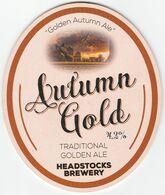 HEADSTOCKS BREWERY (BOUGHTON, ENGLAND) - AUTUMN GOLD - PUMP CLIP FRONT - Letreros