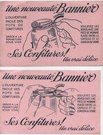 2 Buvards Anciens Différents /Confitures/ Une Nouveauté BANNIER/ Ouverture Facile  /Vers 1950-60    BUV480 - Blotters