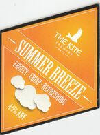 THE KITE BREWERY (LLANELLI, WALES) - SUMMER BREEZE - PUMP CLIP FRONT - Uithangborden