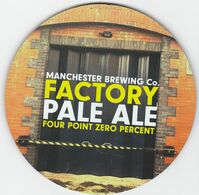 MANCHESTER BREWING CO (MANCHESTER, ENGLAND) - FACTORY PALE ALE - PUMP CLIP FRONT - Uithangborden