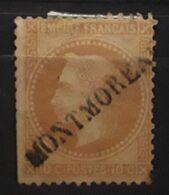 Empire Lauré No 28 Obl Griffe Linéaire MONTMORENCY, Période Guerre Franco Prussienne , Commune De Paris, Vers Mars 1871 - 1863-1870 Napoléon III. Laure