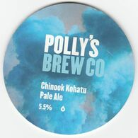 POLLY'S BREW CO (MOLD, WALES) - CHINOOK KOHATU PALE ALE - KEG CLIP FRONT - Uithangborden