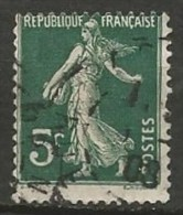 FRANCE N° 137 OBLITERE - 1906-38 Sower - Cameo