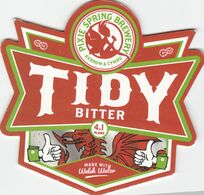 PIXIE SPRING BREWERY (TRETHOMAS, WALES) - TIDY BITTER - PUMP CLIP FRONT - Letreros