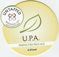 UNTAPPED BREWING CO  (RAGLAN, WALES) - U.P.A.PERFECTED PALE ALE - PUMP CLIP FRONT - Uithangborden