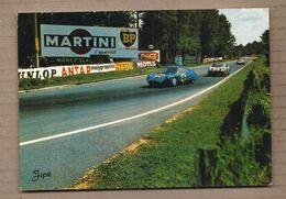 """CPSM 72 - LE MANS - Circuit Des 24 Heures Du Mans - Dans Les """" S """" D' Arnage - TB AUTOMOBILES + MARTINI BP - Le Mans"""