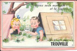 Carte Système Viens Sous Ma Tente Et Tu Verras...Trouville Parfait état - Trouville