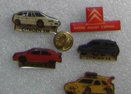 SERIE DE 5 PIN'S  CITROEN        EEEE   008 - Citroën