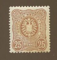 Yv.40  Sans E à Pfennig   *  Charnière Et Rouille Cote Yvert: 25-euros - Unused Stamps