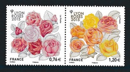 FRANCE 2015 Lyon Roses: Pair Of Stamps UM/MNH - Neufs