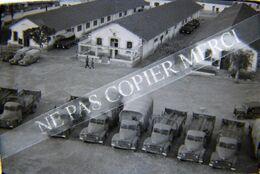 ORAN ALGERIE Caserne Bâtiment Militaire Camion Citroen Jeep NEGATIF PHOTO 24x36 Original 35mm 3/6 - Krieg, Militär
