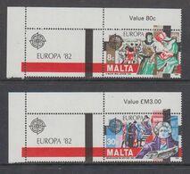 Europa Cept 1982 Malta 2v (+label)  ** Mnh (49664F) - Europa-CEPT