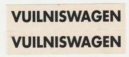 Sticker Voor Playmobil Vuilniswagen - Playmobil