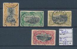 BELGIAN CONGO 1909 ISSUE COB 50/53 USED - 1894-1923 Mols: Gebraucht