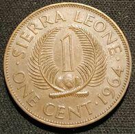 SIERRA LEONE - 1 CENT 1964 - KM 17 - SIR MILTON MARGAI - Sierra Leone