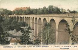 LUXEMBOURG LA PASSERELLE PRISE DU PLATEAU BOURBON - Luxemburg - Stad