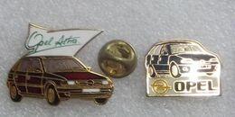 2 PIN'S OPEL ASTRA & OPEL ?      EEEE   017 - Opel