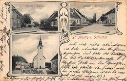 ST MARTIN I. SULMTHAL AUSTRIA~ANSICHT V WESTEN-OSTEN-KIRCHPLATZ~1907 MULTI PHOTO POSTCARD - Other