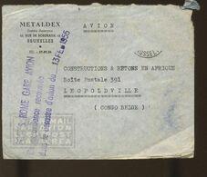 Sinistre Avion à ROMA 13 Fev 1955  Lettre à Destination De Leopoldville  Cachet Arrivée 15 Mars 1955 - Airmail