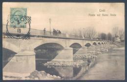 Lombardia LODI Ponte Sul Fiume Adda 1918 - Altre Città