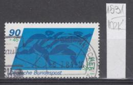 102K1531 / BRD 1980 - Michel Nr. 1048 Used ( O ) Skiing Ski Sci Skifahren Skien  Sport , , Germany Deutschland - Used Stamps