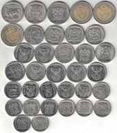 South Africa Collection Of 34 Rand Coins 1989-2011 All Listed & Different - Sud Africa