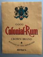 15710 - Good Colonial-Rum Crown Brand - Rhum