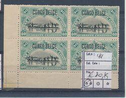 BELGIAN CONGO 1909 COB 44 MNH - Congo Belga