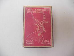 Boite Allumettes étiquette SEITA - CETA BANGUI - République CENTRAFRICAINE  / Match Box Gelijkedoos Streichholzschachte - Matchboxes