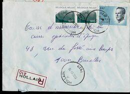 Doc. De HOLLAIN - A - ( 7620 ) Du 15/02/93 En Rec. ( E ) - Marcophilie