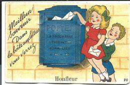 HONFLEUR - Carte à Système - Boîte Aux Lettres POSTE - N°20 Artaud - Vente Directe X - Honfleur