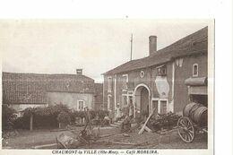 CHAUMONT LA VILLE   CAFE MOREIRA   PERSONNAGES   Defaut Bas Gauche       DEPT 52 - Chaumont