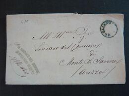"""495 ITALIA Regno-1871- Storia Postale """"Documento Stampato"""" MOGLIANO>MONTE S: SAVINO (descrizione) - Storia Postale"""