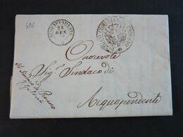"""496 ITALIA Regno -1872- Storia Postale """"Documento Manoscritto"""" Collettoria PROCENO (descrizione) - Storia Postale"""