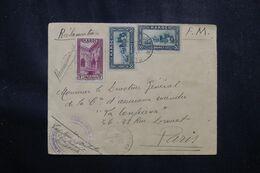 MAROC - Enveloppe ( Avec Manque Au Dos ) En FM En Recommandé Par Avion De Marrakech Pour Paris En 1935 - L 70175 - Lettres & Documents