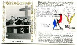 Thème Général De Gaulle - Flamme Temporaire GRENOBLE - 8 Mai 1985 - Y 412 - De Gaulle (General)