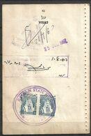 USED VISA STAMPS BAHRAIN ON PASSPORT PAGE - Bahreïn (1965-...)