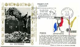 Thème Général De Gaulle - Flamme Temporaire PARIS 08 - 8 Mai 1985 - Y 416 - De Gaulle (Generaal)