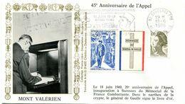 Thème Général De Gaulle - Flamme Temporaire SURESNES - 18 Juin 1985 - Y 421 - De Gaulle (Generaal)