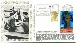 Thème Général De Gaulle - Flamme Permanente COLOMBEY LES 2 EGLISES - 12 Novembre 1985 - Y 422 - De Gaulle (Generaal)