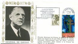 Thème Général De Gaulle - Flamme Temporaire LAGNY SUR MARNE - 1 Septembre 1987 - Y 423 - De Gaulle (Generaal)