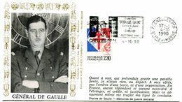 Thème Général De Gaulle - Flamme Temporaire CHELLES - 4 Octobre 1990 - Y 429 - De Gaulle (Generaal)