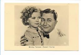Y17358/ Shirley Temple Und Robert Young Schöne Ross Foto AK Ca.1935 - Artistas