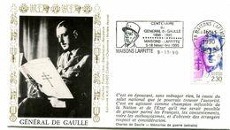 Thème Général De Gaulle - Flamme Temporaire MAISONS LAFFITTE - 9 Novembre 1990 - Y 431 - De Gaulle (Generaal)